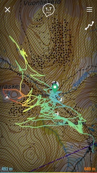 Offline terrain maps